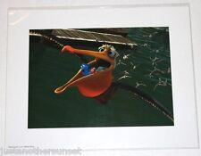 "Disney Art Print Lithograph 11""x14"" Finding Nemo Marlin Dory Ride with Pelican"