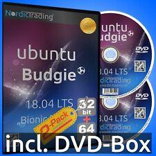Ubuntu Budgie 18.04.3 LTS 2-Pack (32+64bit) Linux Betriebssystem Markenware