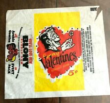 Funny Valentines 1959 Topps Vintage 5 Cent Bubble Gum Trading Card Wrapper