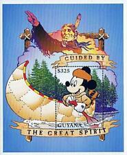 Disney = Guyana / Mickey in Canoe S/S Mnh American Indians