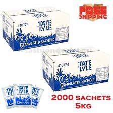 White Granulated Sugar 2000 Individual Sachets Sticks Catering Cafe Bulk, 5 kg
