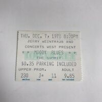 The Moody Blues The Summit Concert Ticket Stub Vintage December 7 1978