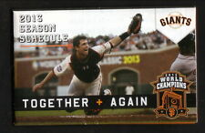 Buster Posey--2013 San Francisco Giants Pocket Schedule--Budweiser