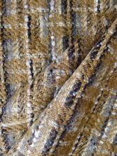 Vintage 80s 100 % wool tweed fabric  brown England 150 X 350 cm
