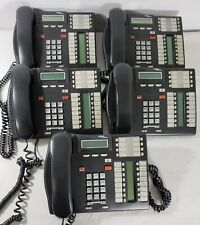 Lot of 5 Nortel Networks T7316 Business Telephones - Charcoal