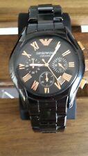 Armani Watches Ceramic Black Rose Gold Mens Chronograph Watch AR1410