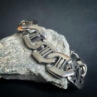 Edelstahl Armband Herren Panzerarmband Biker Armkette Damen Silber Panzer Kette
