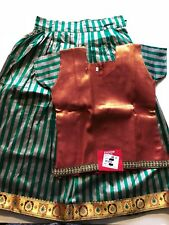 8-9 yr HALF SARI/SAREE LEHENGA CHOLI LEHNGA GIRLS maroon INDIA-NEW-2 PC-USA SHIP