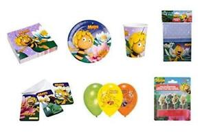 Maya the Bee 7Pc Set Cups, Plates, Napkins, Table Cover, Candles, Balloons, More