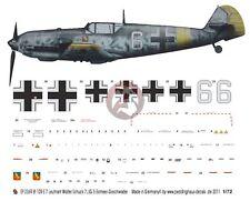 Peddinghaus 1/72 Bf 109 E-7 'White 6' Markings Walter Schuck 7./JG 5 1942 2369
