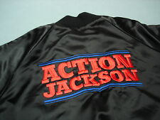 Vintage ACTION JACKSON Satin Jacket  Wow  ! LARGE RARE !