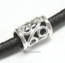 Sterling Silver Bead Flower Tube Bead 8.7mm For European Charm Bracelets
