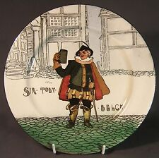 Early Royal Doulton Seriesware cabinet plate - Sir TOBY BELCH by Charles Noke