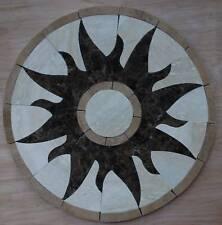 "Floor Marble travertine tile Mosaic Medallion S 24"" #036"