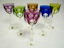 MOSER Crystal - MARIENBAD Cut - Set of 6 Hock Wine Glasses - Cut to Clear