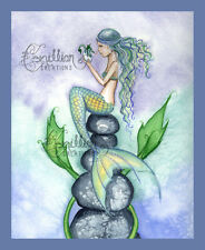 SEA DRAGON KISS Mermaid Print from Original Painting By Camille Grimshaw
