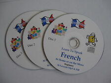 Learn to Speak FRENCH a complete Mp3 & PDF course of 90 lessons 3 Mp3 CDs