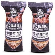 40 Lb Natural Real Wood 2 Pack Blend Flavor Smoker BBQ Grilling Hardwood Pellet