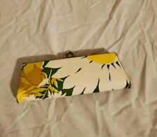 Vintage Style Eyeglass Or Sunglasses Case flowery design with cloth inside***