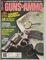 Guns & Ammo Magazine 1980 August Special Handgun Issue Redmond WA Police