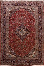 Traditional Vintage Floral Ardakan Hand-Knotted Area Rug 10'x13' Oriental Carpet
