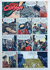 Steve Canyon by Milton Caniff - full tab color Sunday comic page, March 14, 1948