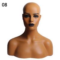 US Realistic Mannequin Head Display Fiberglass Hat Glasses Mold Stand Wig NO.8