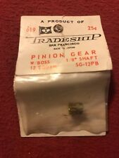 "Nos Slot Car 1960s Tradeship Pinion Gear w/Boss 1/8"" Shaft 12 Tooth 5G012Pb #619"