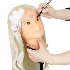 "Makeup & Hairdressing Training Mannequin Head 24""80% Human Hair for Beauty Salon"