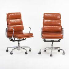 2003 Cognac Herman Miller Eames Aluminum Soft Pad Executive Desk Chair, 6x Avail