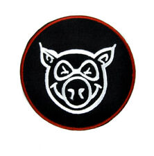Angry Mean Pig Patch Embroidered Iron on Applique Skateboard Skateboarding Skate