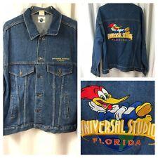 New Vintage 1990 Universal Studios Florida Woody Woodpecker Jean Jacket Mens L