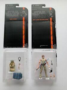 Star Wars Black Series Figure Lot Luke Skywalker and Yoda Dagobah Training