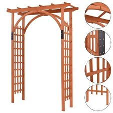 Wooden Premium Outdoor Cedar Arbor Arch Pergola Trellis Garden Yard Lattice Us