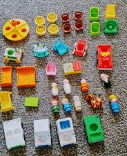 Vintage Fisher Price Little People LotOf 37 Pieces.