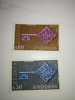 timbres  EUROPA  andorre n 202/203 neuf sans charniere cote 35 euros