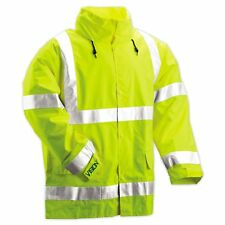 Tingley Rubber J23122 Vision CL3 Breathable Jacket with Hood, 4XL Lime Green