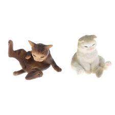 Dollhouse Miniature Cat Licking Water A3521SK Socks