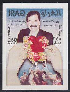 Irak Iraq 2002 ** Bl.107 Referendum Saddam Hussein