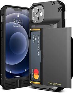 VRS DESIGN Damda Glide Pro Compatible for iPhone 12 Mini Case, with [4 Black