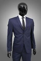Herrenanzug in Royal Blau Nadelstreifen -Regular Fit- Anzug Sakko Hose Smoking