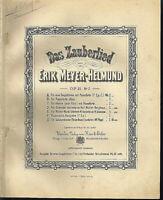 """"""" Das Zauberland """" von Erik Meyer-Helmund Op. 21 Nr. 2 , alte Noten übergroß,"""