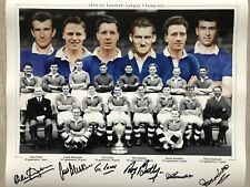 Chelsea Signed Team Line Up Photograph 1854/54 Football League Champions