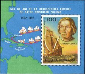 Romania 1992 Columbus/Ships/Sailing/Nautical/Explorers/Transport 1v m/s (b340j)