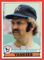 1979 Topps #310 Thurman Munson NEAR MINT / MINT+ New York Yankees FREE SHIPPING