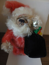 "Annette Funicello Mohair Bear 'Bear Claus' 8"" Nib! Missing Certificate"