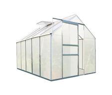 Zelsius 5,90m² Aluminium Gewächshaus mit Fundament - 6 mm Platten