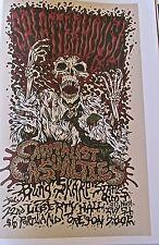 Splatterhouse  Mini-Poster Reprint for 2006 Concert in Portland Oregon 14x10