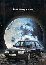 Fiat Regata Saloon 1985 UK Market Foldout Sales Brochure