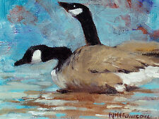 B. Williamson Original Oil Painting on board, Canada Geese, wildlife art, OBO